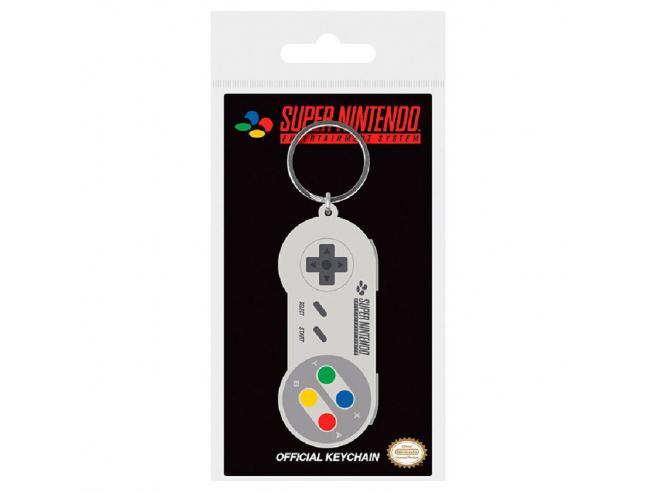 Nintendo Snes Controller Rubber Portachiavi Pyramid