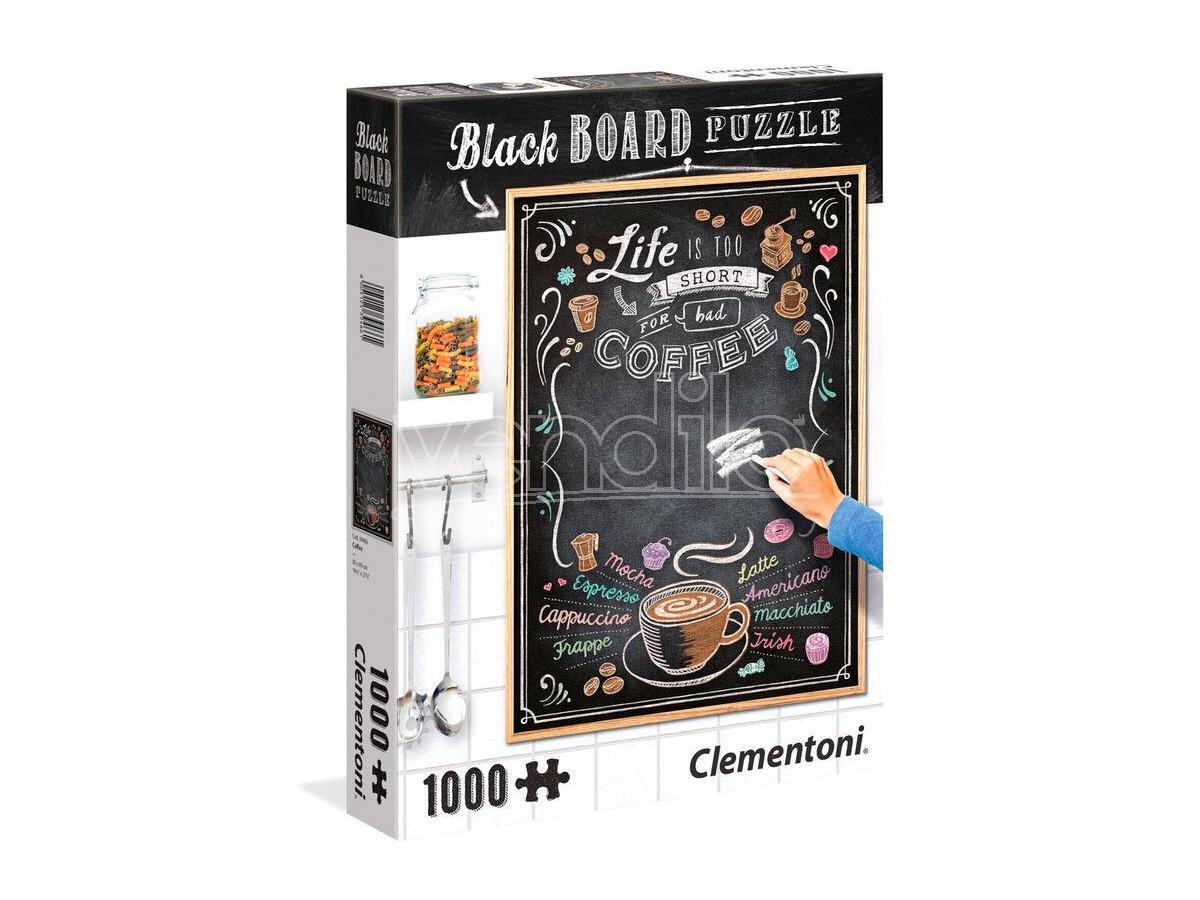 Black Board Coffee Puzzle 1000 Pezzi Clementoni
