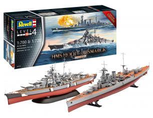 REVELL RV05174 HMS HOOD VS.BISMARCK KIT 1:700 1:720 Modellino