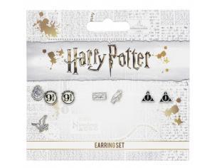 Harry Potter Set 3 Coppie di Orecchini Binario 9 3/4,Edvige e la Lettera,Doni della Morte Carat Shop