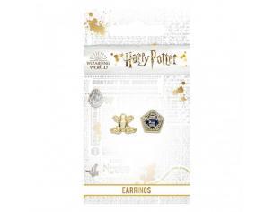 Harry Potter Orecchini a Bottone Placcati in oro Rana di Cioccolato Carat Shop