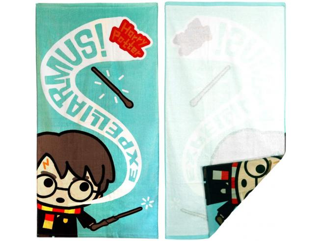 Harry Potter Telo Mare Asciugamano  Expelliarmus in Cotone Multicolore Warner Bros