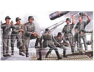 Trumpeter TP0406 LEOPOLD GERMAN RAILROAD GUN CREW KIT 1:35 Modellino