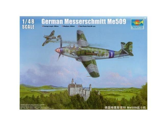 TRUMPETER 02849 GERMAN MESSERSCHMITT ME 509 FIGHTER Modellino