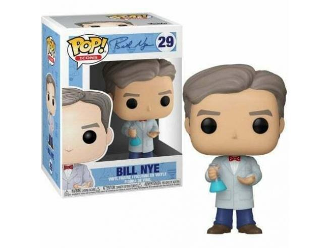 Bill Nye Funko Pop Icons Vinile Figura Bill Nye 9 Cm