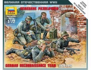 Zvezda Z6153 GERMAN RECONNAISSANCE TEAM WWII KIT 1:72 Modellino