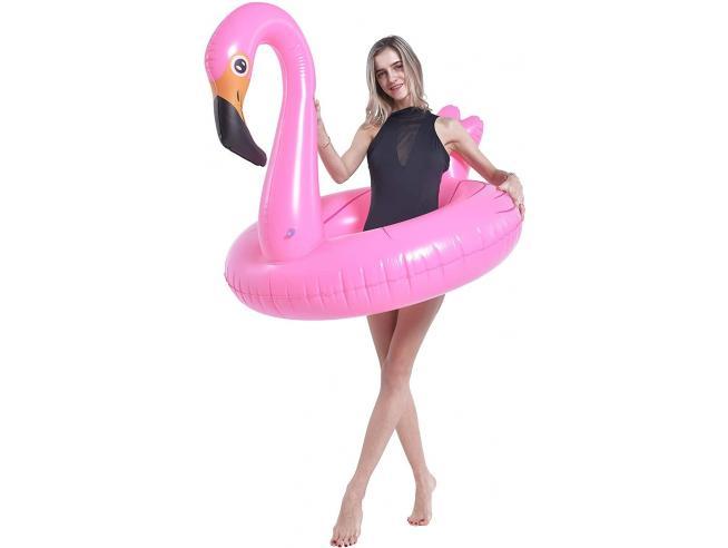 Salvagente Anello Flamingo Gigante Rosa 115cm Jilong-Globo 37484