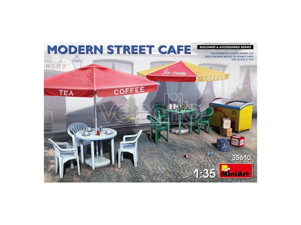 MINIART MIN35610 MODERN STREET CAFE KIT 1:35 Modellino