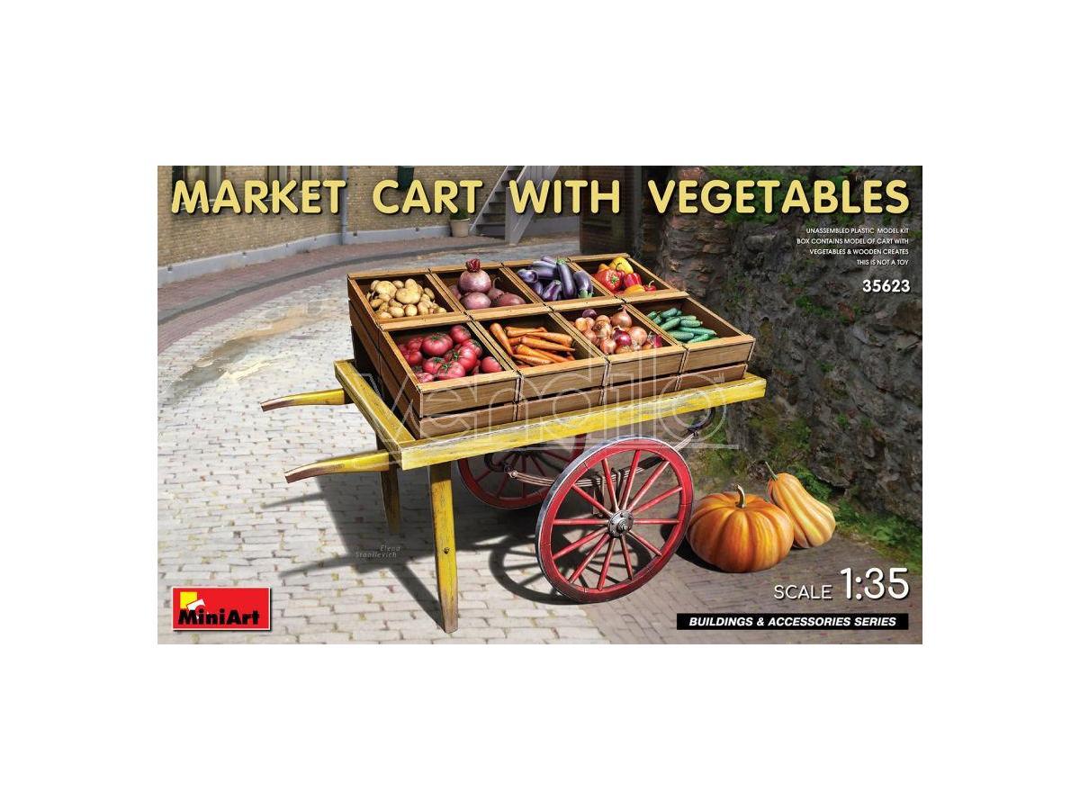 Miniart Min35623 Market Cart Con Vegetables Kit 1:35 Modellino