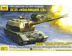 ZVEZDA Z5055 KOALITSYA-SV SELF PROPELLED HOWITZER KIT 1:72 Modellino