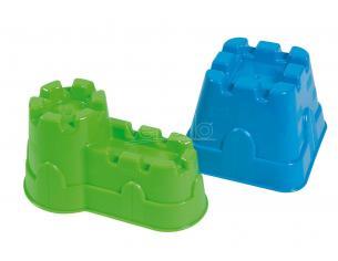 Set Formine per Fare Castelli 2 Pezzi Blu e Verde