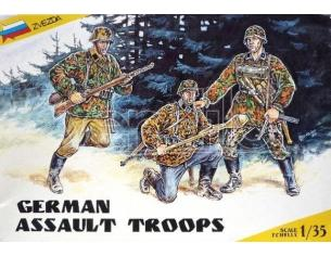Zvezda 3513 German Assault Troops Kit Figura Militari 1:35 Modellino