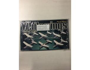 White wings excelent gliders 6 balsa/fiber models Kit Modellino