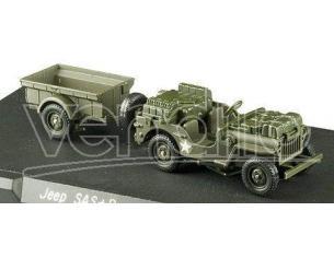 Solido 4494/31 JEEP SAS + TRAILER US 1/43 50TH Modellino