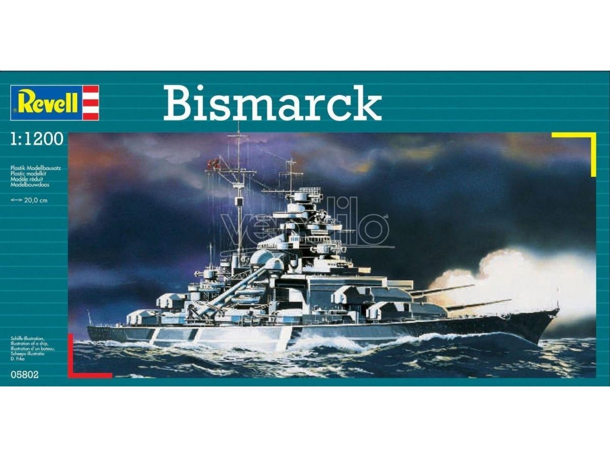 Revell 05802 Bismarck kit plastica 1:1200 kit Modellino