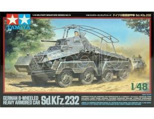 Tamiya TA32574 GERMAN 8-WHEELED HEAVY ARMORED CAR Sd. Kfz. 232 KIT 1:48 Kit Mezzi Militari Modellino