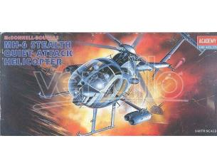 academy Hobby Model 1691 MH-6 STEALTH QUIET ATTACK HELICOPTER 1:48 Modellino