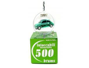 Brumm Br004-02 Fiat 500d (1960) Verde Cromo John Green Natale 2007 Ball Intoccabili 1:43 Modellino