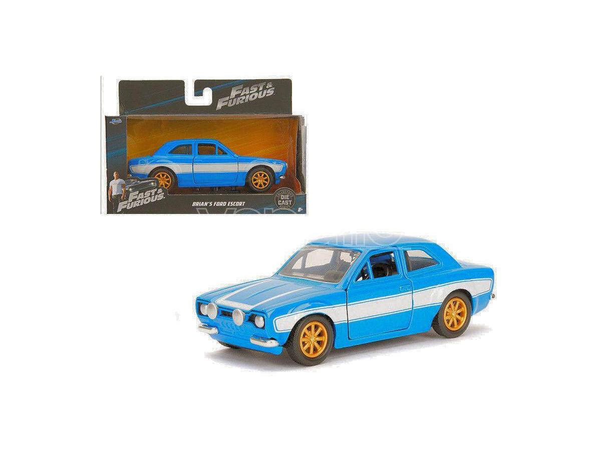JADA TOYS JADA97188 BRIAN S FORD ESCORT RS2000 MK1 FAST & FURIOUS BLUE/WHITE 1:32 Modellino