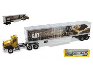 DIECAST MASTER DM85666 CAT CT660 W/CAT MURAL TRAILERS 1:50 Modellino