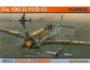 EDUARD 8185 FW190 D-11/D-13 DUAL COMBO KIT PLASTICA 1:48 Modellino