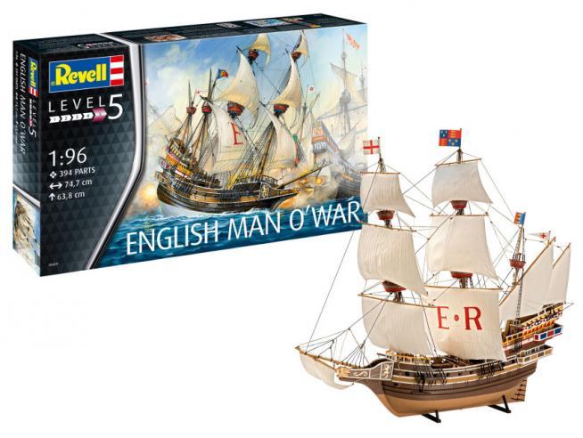 Revell RV05429 ENGLISH MAN O WAR KIT 1:96 Modellino