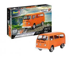 REVELL RV07667 VW T2 BUS (EASY-CLICK SYSTEM) KIT 1:24 Modellino