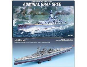 Accademy ACD14103 GERMAN POCKET BATTLESHIP ADMIRAL GRAF SPEE KIT 1:350 Modellino