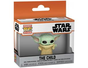 Star Wars The Mandalorian Portachiavi Pocket Pop Funko Yoda Bambino