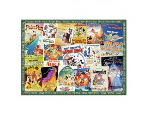 Disney Jigsaw Puzzle Vintage Movie Posters (1000 Pieces) Ravensburger