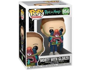 Rick & Morty Funko Pop Animazione Vinile Figura Morty W/ Glorzo 9 Cm