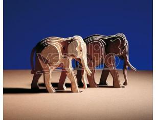 Amati 300/03 -  Woodline Art Elefante Piccolo Kit in Legno Modellino SCATOLA ROVINATA