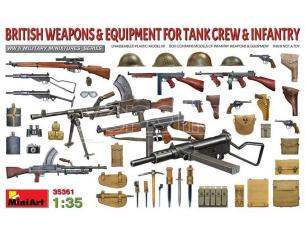 MINIART MIN35361 BRITISH WEAPONS & EQUIP.FOR TANK CREW & INFANTRY KIT 1:35 Modellino