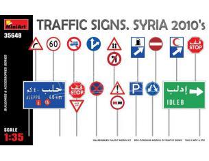 MINIART MIN35648 TRAFFIC SIGNS SYRIA 2010s KIT 1:35 Modellino
