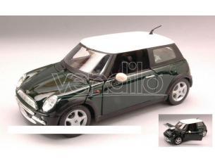 Maisto MI31219 NEW MINI COOPER 2002 GREEN W/WHITE ROOF 1:24 Modellino
