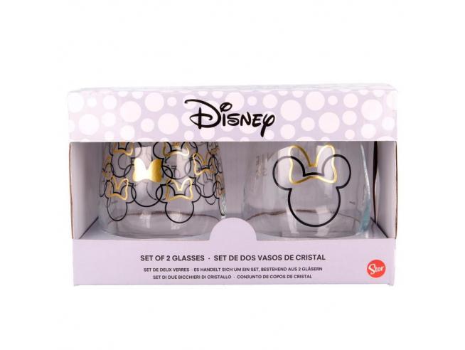 Disney Minnie Set Di 2 Cristallo Bicchieri Stor
