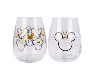 Disney Minnie Set Of 2 Cristallo Bicchieri Stor