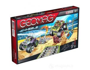 Quercetti Geomag GE707 Wheels Monster 5-7 anni Giocattoli SCATOLA ROVINATA