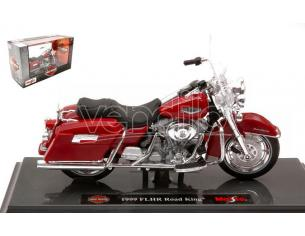MAISTO MI20111 HARLEY DAVIDSON FLHR ROAD KING 1999 RED 1:18 Modellino