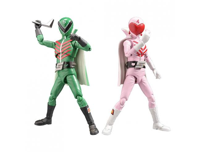 Himitsu Sentai Gorenger Hero Action Figures Momorenger & Midorenger 17 Cm Evolution Toy