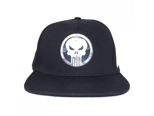 Marvel Comics Punisher Berretto Curvo Logo Heroes Inc