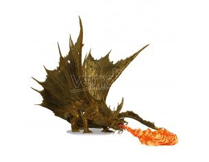 D&d Icons Of The Realms Premium Miniature Pre-painted Adulto Gold Dragon 25 Cm Wizbambino