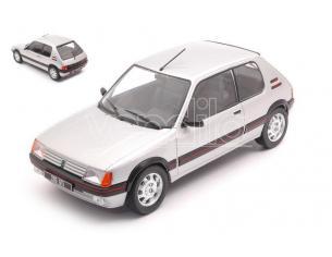 WHITEBOX WB124063 PEUGEOT 205 1.9 GTI SILVER 1:24 Modellino