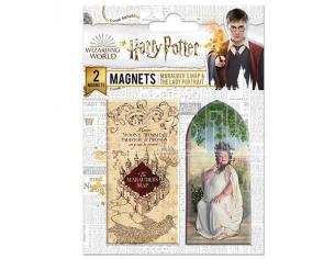 Harry Potter Set di 2 Magneti Mappa del Malandrino / Signora Grassa Distrineo