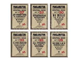 Harry Potter Set di 6 Magneti della Proclamazione Distrineo
