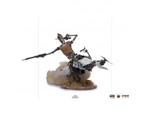 Star Wars The Mandalorian Deluxe Art Scale Statua 1/10 Ig-11 & The Bambino 20 Cm Iron Studios