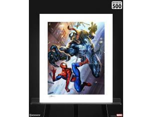 Marvel Art Print Spider-Man Vs Venom 46 X 61 Cm - Unframed Sideshow Collectibles