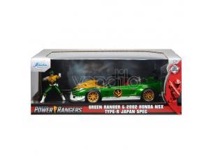 Power Rangers Hollywood Rides Diecast Model 1/24 2002 Honda Nsx Type-r Japan Spec Con Figura Jada Toys