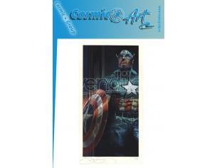 S.BIANCHI - CAPTAIN AMERICA - LYTHO PRINTED ART COSMIC ART