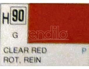 Gunze GU0090 CLEAR RED GLOSS ml 10 Pz.6 Modellino